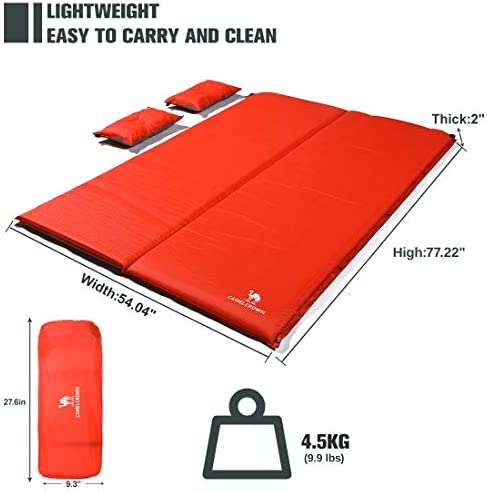 CAMEL CROWN Camping Sleeping Pad Waterproof for Hiking Traveling Camping Backpacking Beach