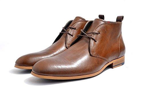 PRATIK Boots Up Lace Camel Leather Lee Men's Eyelet Two d1c66Wn