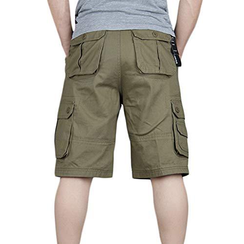 pocket Uomo Pant Shorts Amlaiworld Nuovo Casual Multi Stile Giallo Pantaloncini YBTBcqa