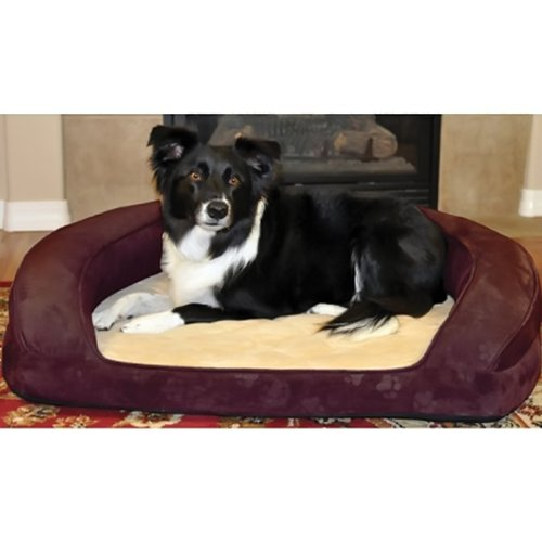 Deluxe Ortho Sleeper Bolster Dog Bed Size  Medium (30 L), color  Eggplant by K&H Manufacturing