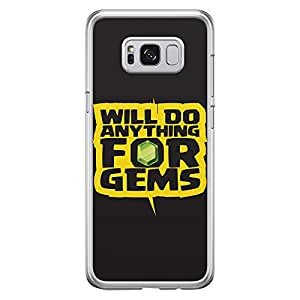 Samsung S8 Transparent Edge Case Clash Of Clans Will Do Anything For Gems -Multicolor