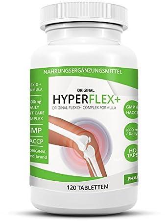 d24bd3d2b91e7 HYPERFLEX+ Einzigartiger Glukosamine Chondroitin Multikomplex mit 2800mg!  Tagesdosis - angereichert mit MSN