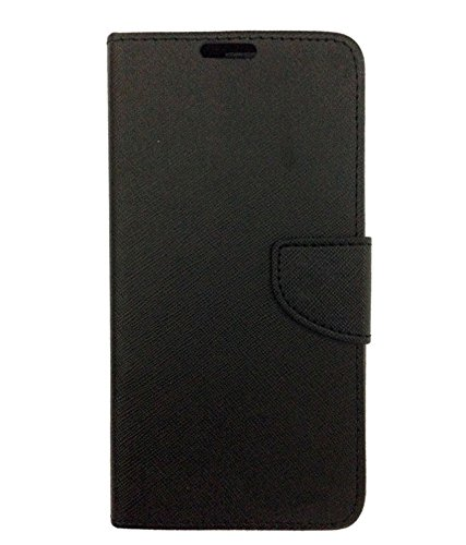 DESIGNERZ HUB FLIP Cover for LYF F8 Black Mobile Phone Cases   Covers