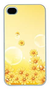 iphone 4 cases glitter yellow PC White for Apple iPhone 4/4S