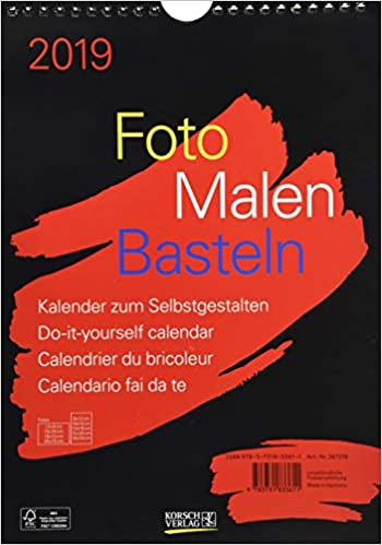 Foto Malen Basteln Schwarz 2019 Format A4 9783731833611 Amazoncom
