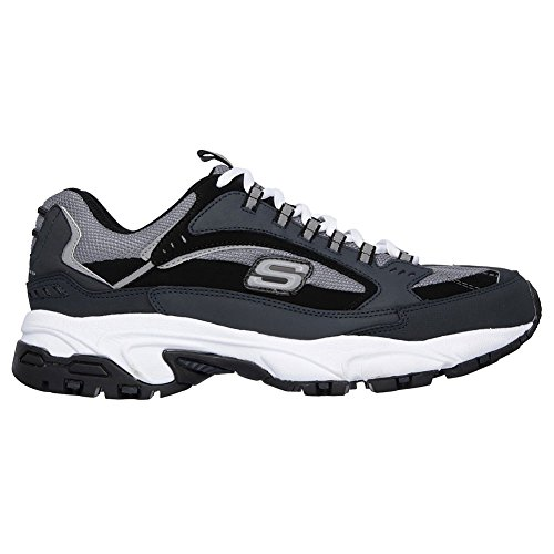 Sneaker Stamina Cutback Men's Shoes Gry Skechers Black Top Low Nbk wTF57wnqx