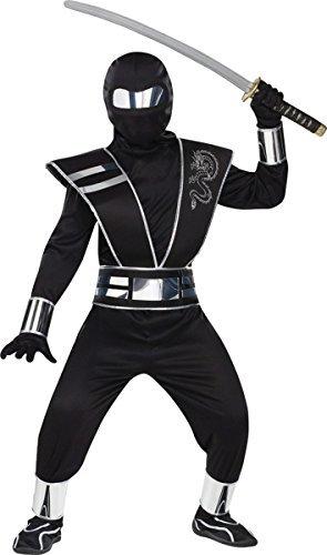 Fun World Big Boy's Mirror Ninja Costume Childrens Costume, Multi, -