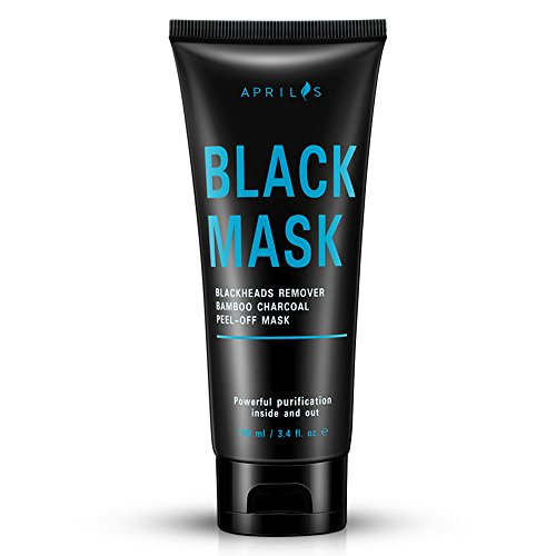 Blackhead Remover Mask, Peel off Mask with Bamboo Charcoal, Black Mask for Nose and Face Deep Pores Cleansing and Oil Control, Painless & Easy to Strip, 100 ml / 3.4 ()