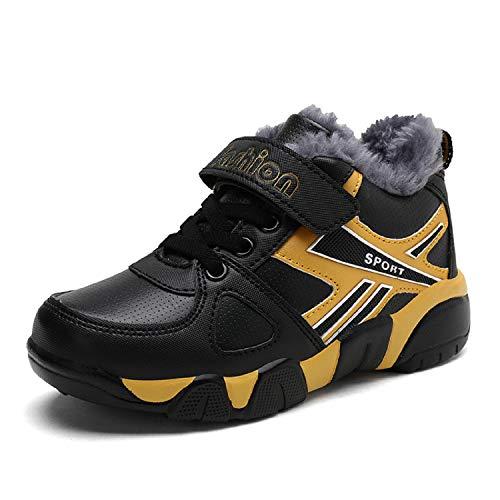Noir De Fourrées Fille H Neige mastery Botte Enfants Jaune Chaussure Sport Garcon Sneakers Hiver Chaudes Baskets wwRqfU6