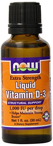 Now Foods Ex Str Liquid vitamine D-3 1000 UI Drop, une once