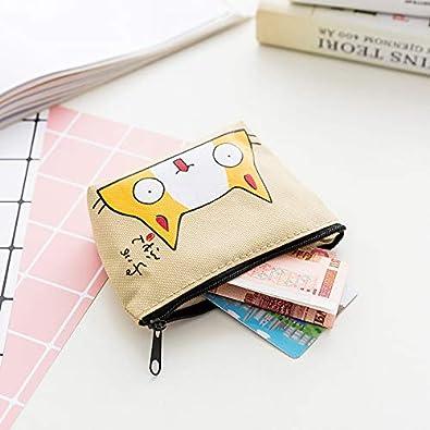 Amazon.com: Kanggest - Monedero para gato, bolsa de tela ...