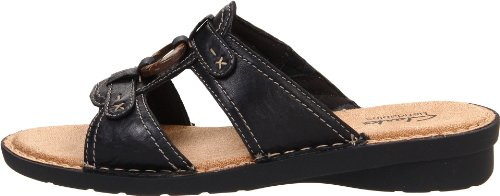 Sandalo Scorrere Nikki Leather Clarks Scrunch Peridot Black xqwESt