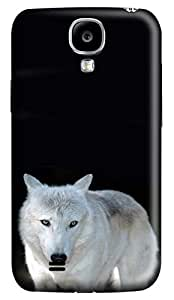Brian114 Samsung Galaxy S4 Case, S4 Case - Customized 3D Designs Snap-on Case for Samsung Galaxy S4 I9500 White Wolf 2 Best Protective Back Case for Samsung Galaxy S4 I9500