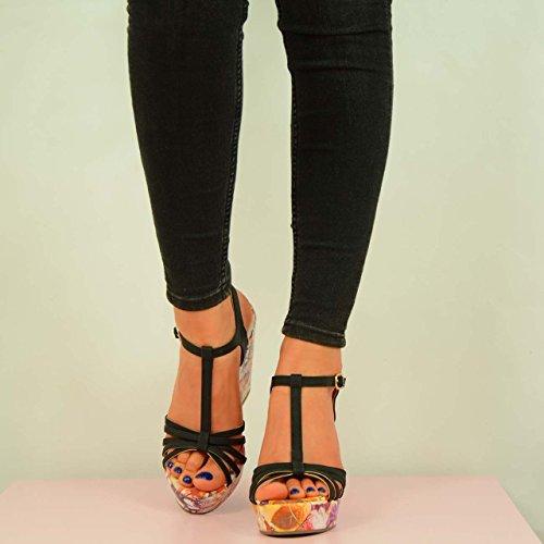 Barre noir femme Cucu Fashion T Noir en SaxZ5wq