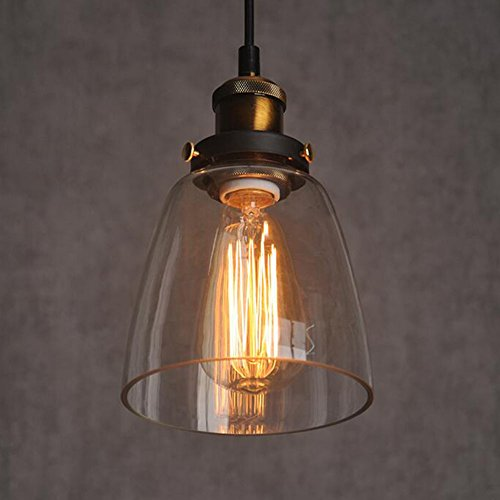 Vintage Retro Glass Shade Ceiling Lights Chandelier Fitting Pendant Lamp Lights type amber (no ()