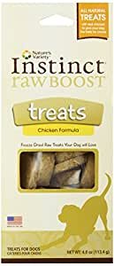 Nature's Variety Instinct Raw Boost Freeze Dried Chicken Formula Treats, 4 oz. Package
