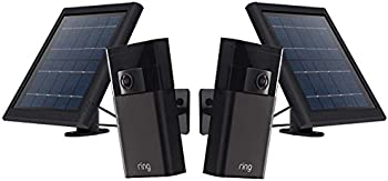 2-Pack Ring Wireless Outdoor Stick Up Camera with Solar Panel