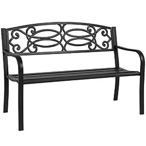 """50""""al aire libre banco de jardín estructura de acero muebles de patio Parque Patio porche"""