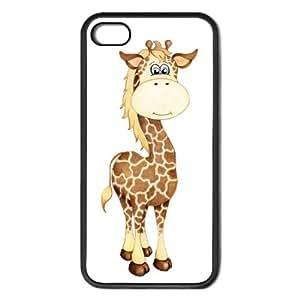 Lizzy the Giraffe Painting Apple iPhone 5 Black Rubber Grip Case Original Animal Art