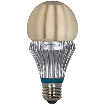 SWITCH Lighting A23201FA2-R Classic A19 LED Light Bulb with 75-Watt Replacement and Frost Lens, Soft White (2700K)