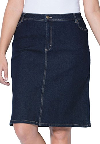 Jessica London Women's Plus Size Denim Skirt