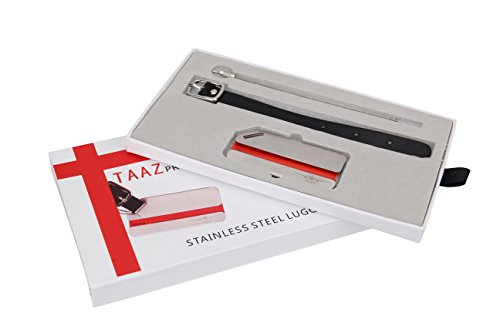 Steel Tags Luggage Stainless (TAAZ Premium Stainless Steel Luggage Tag with Life Time Never Lost Warranty)