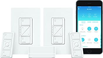Lutron Caseta Wireless Smart Lighting Deluxe Starter Kit