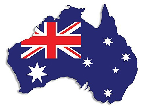 Australia SHAPED Australian Flag Sticker (aussie decal) Australia Flag Sticker
