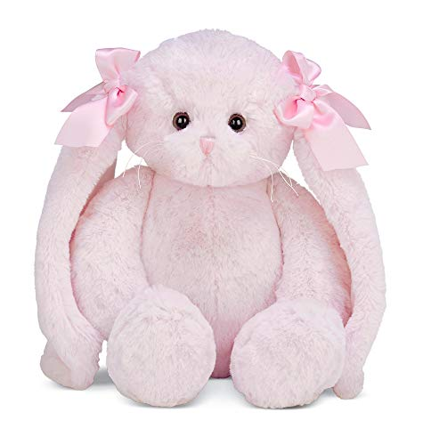 Bearington Bun Bun Pink Plush Bunny Stuffed Animal, 14 inches]()