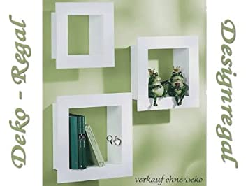 Schönes 3er Regalset CD Regal Bücherregal Grau Designregal Regal