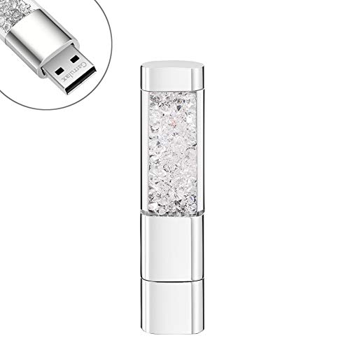 GARRULAX USB Flash Drive, 8GB / 16GB / 32GB USB2.0 USB Memory Stick Date Storage Pendrive Thumb Drives (32GB, Clear) (Usb Flash Drive Fancy)