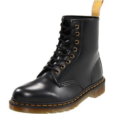 0ea42cacbea4 Dr. Martens Vegan 1460 Smooth Black Combat Boot, Fleix Rub, 9 UK/