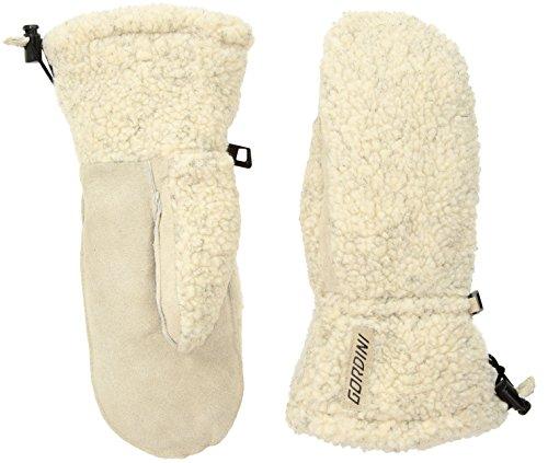 Gordini Women's Women's Wooly Insulated Mittens, Oatmeal, - Glove Down Gauntlet Aquabloc