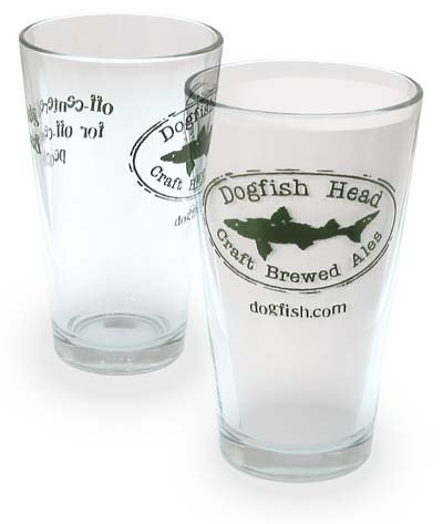 (Dogfish Head Craft Brewed Ales - Pint Glass )