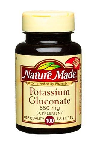 Nature Made gluconate de potassium 550 mg, 100 comprimés (pack de 3)