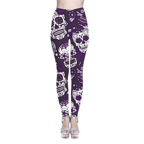 Pantalon Jutoo Décontracté À Sport Taille Femmes La Fitness Femme Sarouel De Rayures Imprimé Violet Yoga Haute Running Gym Leggings Élastique a8a61rw