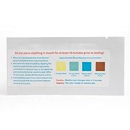 Devon Medical One Step Alcohol Saliva Test Strip-5 Pack
