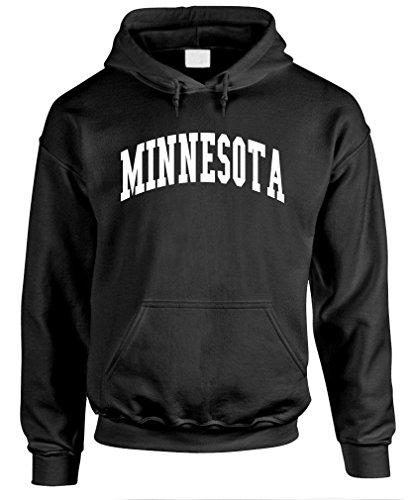 The Goozler Minnesota - USA America State Pride Patriotic - Mens Pullover Hoodie, S, Black