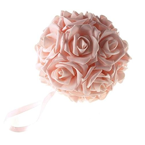 Homeford FNS008562LPK Soft Touch Foam Kissing Ball Wedding Centerpiece, 6