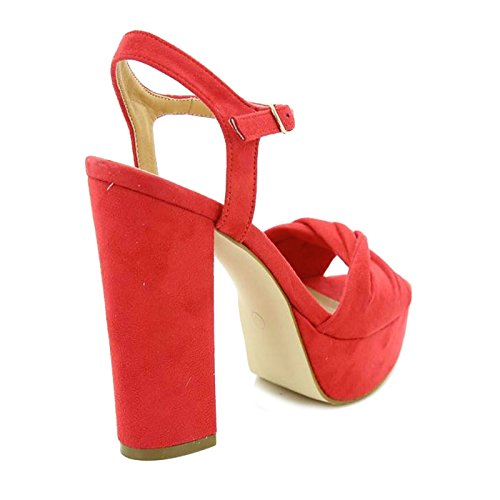 Chaussures à Rouge brides femme Toocool YdwTxY