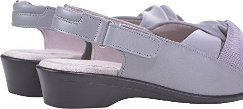 Leather Width Large Extra Selena Leather Cosyfeet Soft Grey Printed Fitting Eeeee Sandalias RqwzAgXq