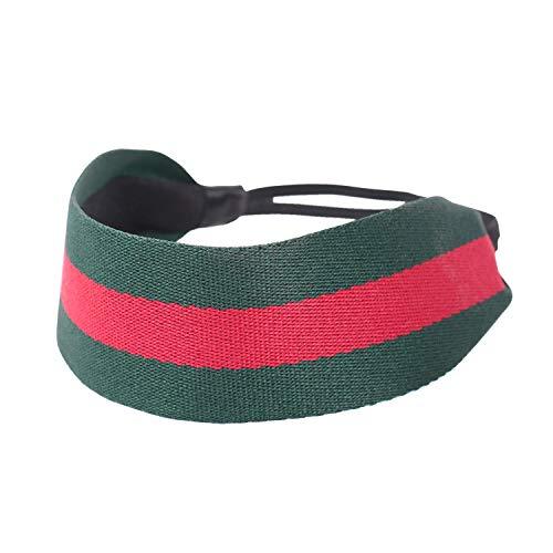 Girliber Handmade Headband for Women, headband, Green and Red - Belt Scarf Headband