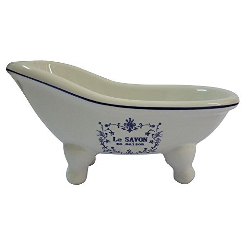 Bar Eden Bath - Kingston Brass BATUBSSW Aqua Eden Mini Ceramic Slipper Bathtub, 5-11/16-Inch x 3-Inch x 3-1/16-Inch, White