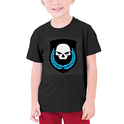 HiPiClothK Youth Boys&Grils Pop Game Ghost Recon Skull Leaf Logo Casual Style Short Sleeve T-Shirt S Black]()
