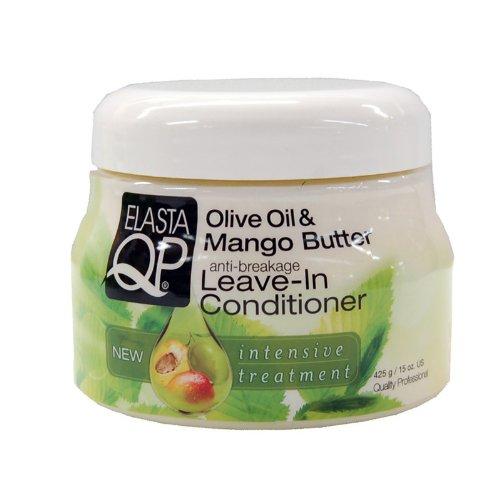 (Elasta QP Olive oil & Mango Butter Leave-In Conditioner 15 oz (Multi Pack Deal!! Pack of)