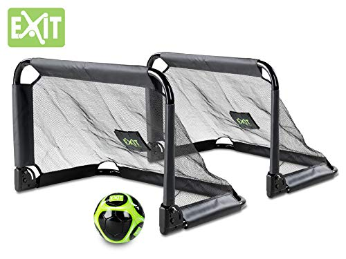 EXIT Pico Steel Soccer Goal 35x24 in (Set of 2) - Black by Exit Toys USA (Image #2)