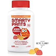 SmartyPants Kids Formula Daily Gummy Vitamins: Gluten Free, Multivitamin & Omega 3 Fish Oil (DHA/EPA), Methyl B12, Vitamin D3, Vitamin B6, 120 Count (30 Day Supply) - Packaging May Vary