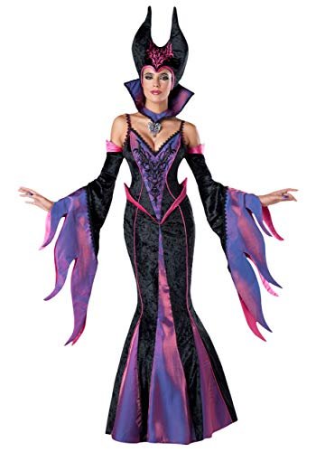 InCharacter Costumes Women's Dark Sorceress Costume, Purple/Black, Large]()