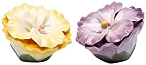 "StealStreet SS-CG-20734 2.5"" Yellow and Purple Pansy Flowers Salt and Pepper Shaker Set"