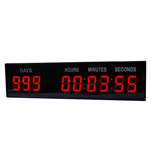 New Years Countdown Clock - 1.8'' LED Large Digital Countdown Clock Event Timer With Remote And Buttons